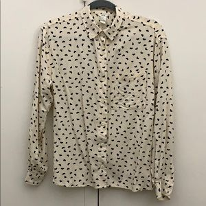 Tops - Long Sleeve Blouse with Hearts